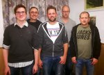 v.l. Kevin Pitsch, Michael Dexheimer, Christian Rammersbach, Timo Diefenbach, Patrick Menz